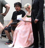 NEW YORK, NY-July 24:  Joon-ho Bong, Tida Swinton shooting on location for Netflix & Plan B Enterainment  film Okja in New York. NY July 24, 2016. Credit:RW/MediaPunch