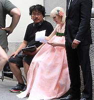 NEW YORK, NY-July 24:  Joon-ho Bong, Tida Swinton shooting on location for Netflix & Plan B Enterainment  film Okja in New York. NY July 24, 2016. Credit:RW/MediaPunch