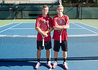 Junior members with the Stanford Men's Tennis Team. Photo taken on Monday, September 23, 2013.