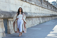 Nausheen Shah at Paris Fashion Week (Photo by Hunter Abrams/Guest of a Guest)