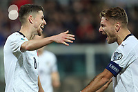 Italy's Jorginho celebrates with Ciro Immobile  after scoring the 5-0 goal <br /> Palermo 18-11-2019 Stadio Renzo Barbera <br /> UEFA European Championship 2020 qualifier group J <br /> Italy - Armenia <br /> Photo Carmelo Imbesi / Insidefoto
