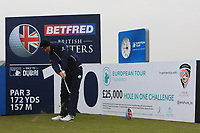 Bernd Wiesberger (AUT) and on the 10th tee during the Pro-Am of the Betfred British Masters 2019 at Hillside Golf Club, Southport, Lancashire, England. 08/05/19<br /> <br /> Picture: Thos Caffrey / Golffile<br /> <br /> All photos usage must carry mandatory copyright credit (© Golffile | Thos Caffrey)
