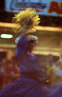 Dancer performing a hula at the Waikiki Hoolaulea during Aloha Week