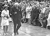 Despite earlier heavy rain hundreds turned out to welcome Princess Margaret as she arrived at Balmoral Show, Belfast, N Ireland. 1967052601c<br /> <br /> Copyright Image from Victor Patterson, 54 Dorchester Park, Belfast, UK, BT9 6RJ<br /> <br /> t: +44 28 90661296<br /> m: +44 7802 353836<br /> vm: +44 20 88167153<br /> e1: victorpatterson@me.com<br /> e2: victorpatterson@gmail.com<br /> <br /> For my Terms and Conditions of Use go to www.victorpatterson.com