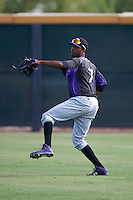 Colorado Rockies Rosell Herrera (7) during practice before an instructional league game against the SK Wyverns on October 10, 2015 at the Salt River Fields at Talking Stick in Scottsdale, Arizona.  (Mike Janes/Four Seam Images)