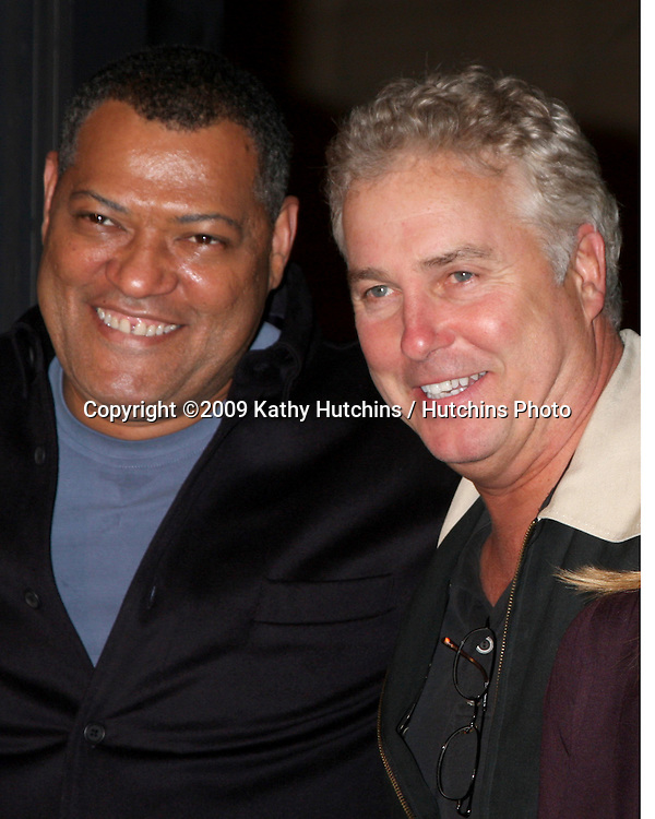 Lawrence Fishburne &  William Petersen at the 200th Episode Celebration of CSI (LasVegas) at the CSI set on Universal Backlot in Los Angeles, CA on .February 10, 2009.©2009 Kathy Hutchins / Hutchins Photo..                .
