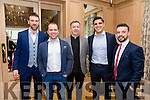 Enjoying the  Austin Stacks Centenary Lunch at Ballygarry House Hotel on Friday were Daniel Bohane,  Jonathan Conway Wayne Guthrie, Dale Counihan