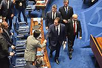 BRASÍLIA, DF, 01.02.2017 – PRESIDÊNCIA-SENADO – O presidente eleito do Senado, Eunicio Oliveira, durante Sessão no Senado após sua eleição, nesta quarta-feira, 01.(Foto: Ricardo Botelho/Brazil Photo Press)