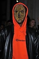 party guest in a mask at the LFW s/s 2018 Vin + Omi catwalk show &amp; afterparty, Andaz Liverpool Street Hotel, Liverpool Street, London, England, UK, on Monday 11 September 2017.<br /> CAP/CAN<br /> &copy;CAN/Capital Pictures