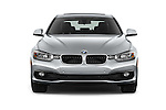 Car photography straight front view of a 2017 BMW 3-Series 320i 4 Door Sedan Front View