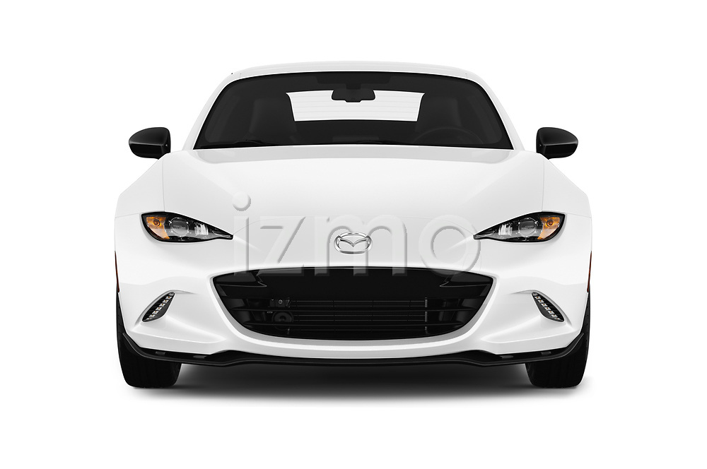 Car photography straight front view of a 2019 Mazda MX-5 RF Club 2 Door Targa
