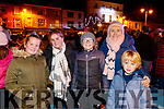 Emily Bakker, Cara Stack, Oisin Stack, Karina Stack, Sean Bakker, pictured at the turning on of the Christmas lights in Listowel on Saturday last.