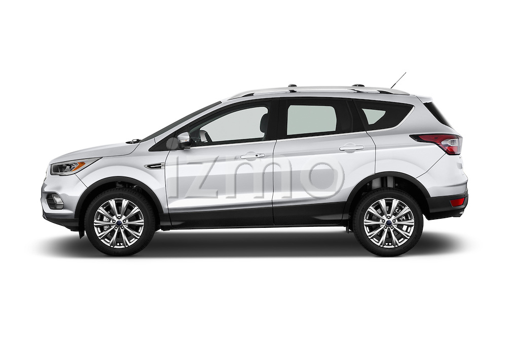 Car Driver side profile view of a 2018 Ford Escape Titanium 5 Door Suv Side View