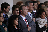 WASHINGTON, DC - DECEMBER 03: Neil Bush (C), son of former U.S. President George H. W. Bush, and members of his family watch as a U.S. military honor guard carries the casket of his father into the U.S. Capitol December 3, 2018 in Washington, DC. A state funeral for former U.S. President Bush will be held in Washington over the next three days, beginning with him lying in state in the Rotunda of the Capitol until Wednesday morning.(Photo by Win McNamee/Getty Images)