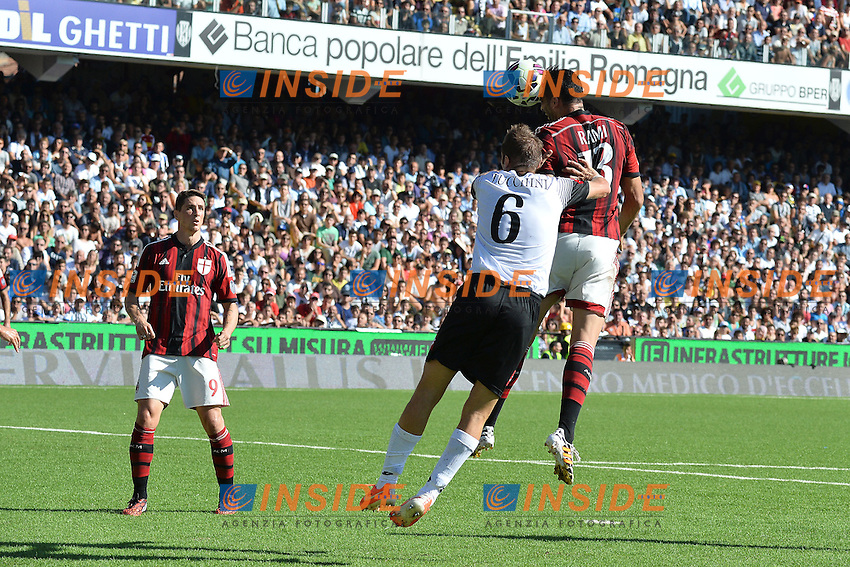 Adil Rami Milan gol 1-1- Goal celebration <br /> Cesena 28-09-2014 Stadio Dino Manuzzi, Football Calcio Serie A Cesena - Milan. Foto Andrea Staccioli / Insidefoto
