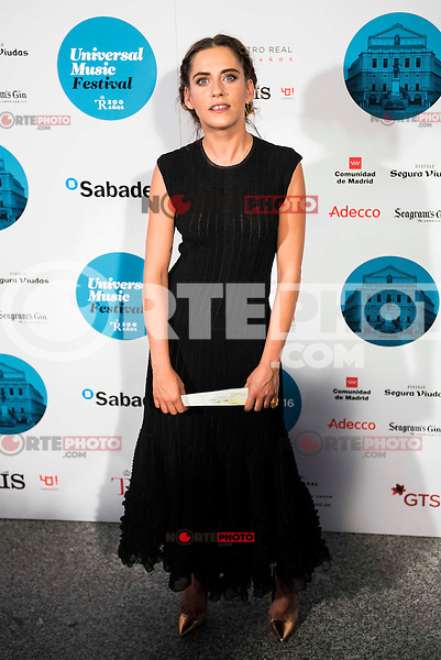 Maria Leon attends to the photocall of the Rod Stewart concert at Teatro Real in Madrid. July 05. 2016. (ALTERPHOTOS/Borja B.Hojas)