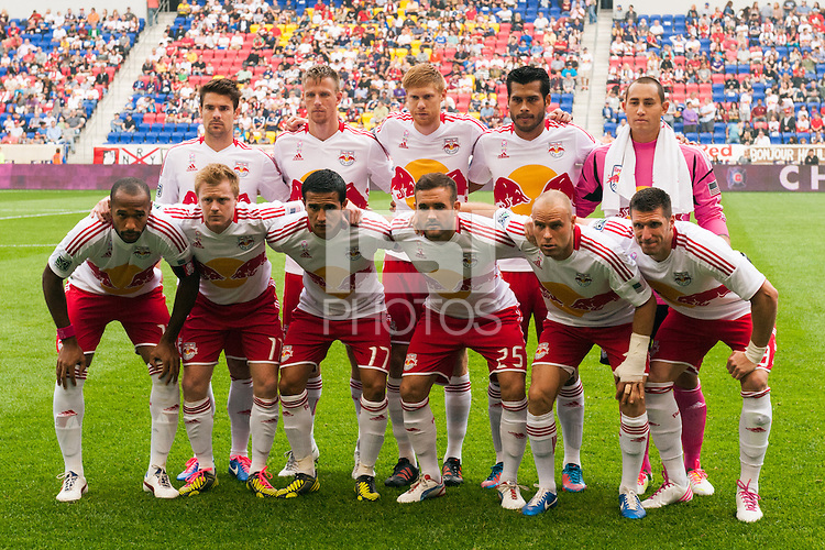 New York Red Bulls starting eleven. The Chicago Fire defeated the New York Red Bulls 2-0 during a Major League Soccer (MLS) match at Red Bull Arena in Harrison, NJ, on October 06, 2012.