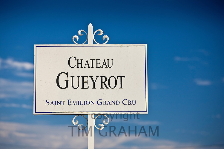 Chateau Gueyrot at St Emilion in the Bordeaux wine region of France