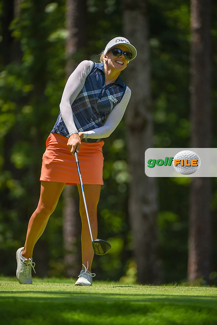 Pernilla Lindberg (SWE) watches her tee shot on 2 during round 1 of the U.S. Women's Open Championship, Shoal Creek Country Club, at Birmingham, Alabama, USA. 5/31/2018.<br /> Picture: Golffile | Ken Murray<br /> <br /> All photo usage must carry mandatory copyright credit (© Golffile | Ken Murray)