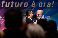 Luigi Di Maio with Vito Crimi that will take his place ad interim<br /> Rome January 22nd 2020. Press conference of the Italian Minister of Foreign Affairs to announce that he quits as Movement 5 Stars leader.<br /> Foto Samantha Zucchi Insidefoto