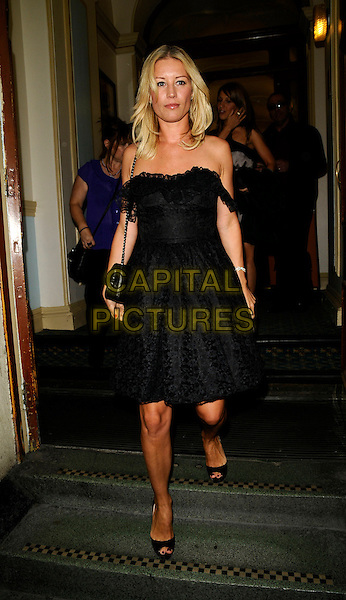 "DENISE VAN OUTEN.The ""Lyrics by Don Black"" 70th birthday concert, London Palladium, Argyll Street, London, England..August 17th, 2008.full length black strapless dress lace off the shoulder .CAP/CAN.©Can Nguyen/Capital Pictures."