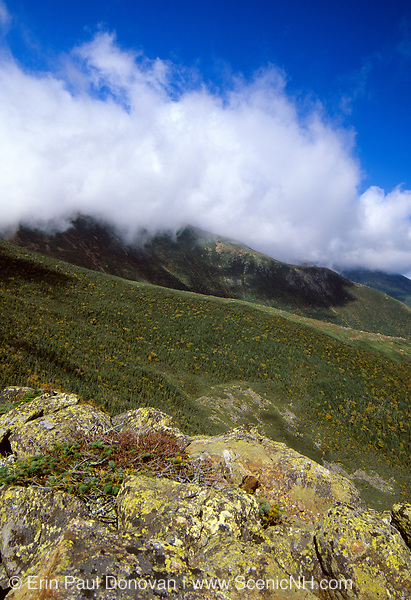 Looking across the Gulf of Slides at Boott Spur (left) from Glen Boulder Trail in the New Hampshire White Mountains.