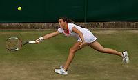 Tatjana Malek (GER) against Samantha Stosur (AUS) (18) in the second round of the ladies singles. Stosur beat Malek 4-6 7-6 6-4..Tennis - Wimbledon - Day 4 - Thur 25th June 2009 - All England Lawn Tennis Club  - Wimbledon - London - United Kingdom..Frey Images, Barry House, 20-22 Worple Road, London, SW19 4DH.Tel - +44 20 8947 0100.Cell - +44 7843 383 012