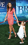 """Alessandra Ambrosio and daughter at the World Premiere of Disney Pixar's """" Brave """" at the grand opening of the Dolby Theatre Los Angeles, CA. June 18, 2012"""