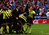 Terry Cooke of Manchester City, formerly a member of Manchester United's Class of '92, celebrates their Play-Off Final victory after a penalty shoot out during Manchester City vs Gillingham, Nationwide League Division Two Football at Wembley Stadium on 30th May 1999