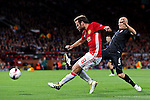 Juan Mata of Manchester United fires a shot at goal during the UEFA Europa League match at Old Trafford Stadium, Manchester. Picture date: September 29th, 2016. Pic Matt McNulty/Sportimage