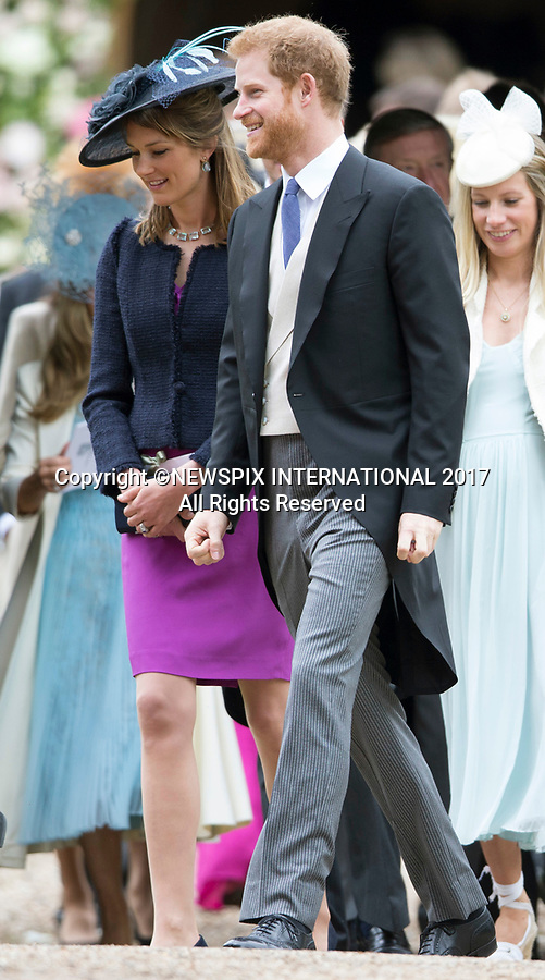 20.05.2017; Englefield, UK: PRINCE HARRY <br /> attends Pippa Middleton's Wedding to James Mathews at St Mark's Church, Englefield.<br /> Also present at the church service were the Duke and Duchess of Cambridge, Prince George, Princess Charlotte and Princess Eugenie.<br /> Mandatory Photo Credit: &copy;Francis Dias/NEWSPIX INTERNATIONAL<br /> <br /> IMMEDIATE CONFIRMATION OF USAGE REQUIRED:<br /> Newspix International, 31 Chinnery Hill, Bishop's Stortford, ENGLAND CM23 3PS<br /> Tel:+441279 324672  ; Fax: +441279656877<br /> Mobile:  07775681153<br /> e-mail: info@newspixinternational.co.uk<br /> Usage Implies Acceptance of OUr Terms &amp; Conditions<br /> Please refer to usage terms. All Fees Payable To Newspix International