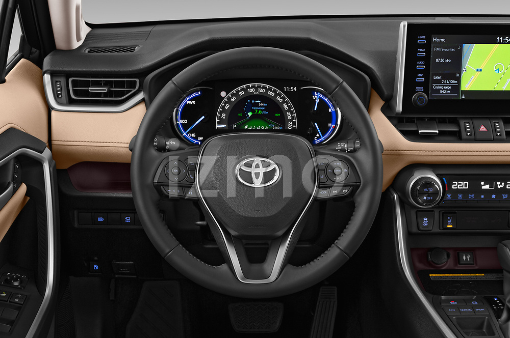 Car pictures of steering wheel view of a 2019 Toyota RAV4 Premium-hybrid 5 Door SUV Steering Wheel
