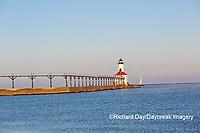 64795-02901 Michigan City Lighthouse & Pier Michigan City, MI