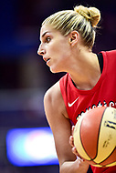 Washington, DC - August 12, 2018: Washington Mystics All-Star guard Elena Delle Donne (11) with the ball during game between the Washington Mystics and the Dallas Wings at the Capital One Arena in Washington, DC. (Photo by Phil Peters/Media Images International)