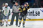 Stockholm 2014-01-18 Ishockey SHL AIK - F&auml;rjestads BK :  <br /> AIK:s Oscar Ahlstr&ouml;m ser nedst&auml;md ut<br /> (Foto: Kenta J&ouml;nsson) Nyckelord:  depp besviken besvikelse sorg ledsen deppig nedst&auml;md uppgiven sad disappointment disappointed dejected
