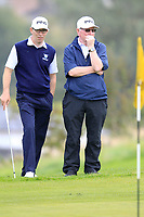 Fergus Duff and John Clarke (Ardee) during the final round of the All Ireland Four Ball Interclub Final, Roe Park resort, Limavady, Derry, Northern Ireland. 15/09/2019.<br /> Picture Fran Caffrey / Golffile.ie<br /> <br /> All photo usage must carry mandatory copyright credit (© Golffile | Fran Caffrey)
