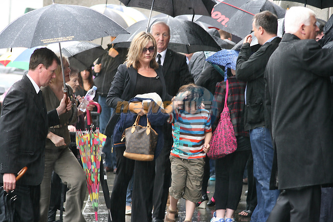 Music Promoter Derek Nally's wife and family arrive at his Funeral in Drogheda...Photo NEWSFILE.(Photo credit should read NEWSFILE)....This Picture has been sent you under the condtions enclosed by:.Newsfile Ltd..The Studio,.Millmount Abbey,.Drogheda,.Co Meath..Ireland..Tel: +353(0)41-9871240.Fax: +353(0)41-9871260.GSM: +353(0)86-2500958.email: pictures@newsfile.ie.www.newsfile.ie.FTP: 193.120.102.198.