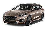 2019 Ford Focus-Clipper  ST-Line 5 Door Wagon angular front stock photos of front three quarter view