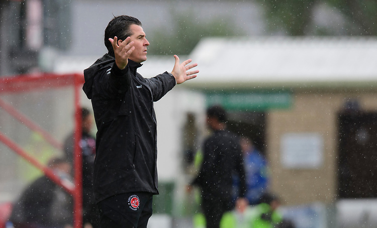 Fleetwood Town manager Joey Barton<br /> <br /> Photographer Chris Vaughan/CameraSport<br /> <br /> The EFL Sky Bet League One - Lincoln City v Fleetwood Town - Saturday 31st August 2019 - Sincil Bank - Lincoln<br /> <br /> World Copyright © 2019 CameraSport. All rights reserved. 43 Linden Ave. Countesthorpe. Leicester. England. LE8 5PG - Tel: +44 (0) 116 277 4147 - admin@camerasport.com - www.camerasport.com