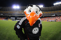DC United Mascot Talon.   The Houston Dynamo defeated DC United 3-1, at RFK Stadium, Saturday September 25, 2010.