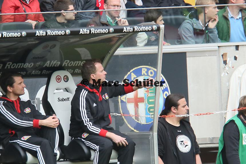 Trainer Sascha Lewandowski (Bayer) - Eintracht Frankfurt vs. Bayer Leverkusen, Commerzbank Arena