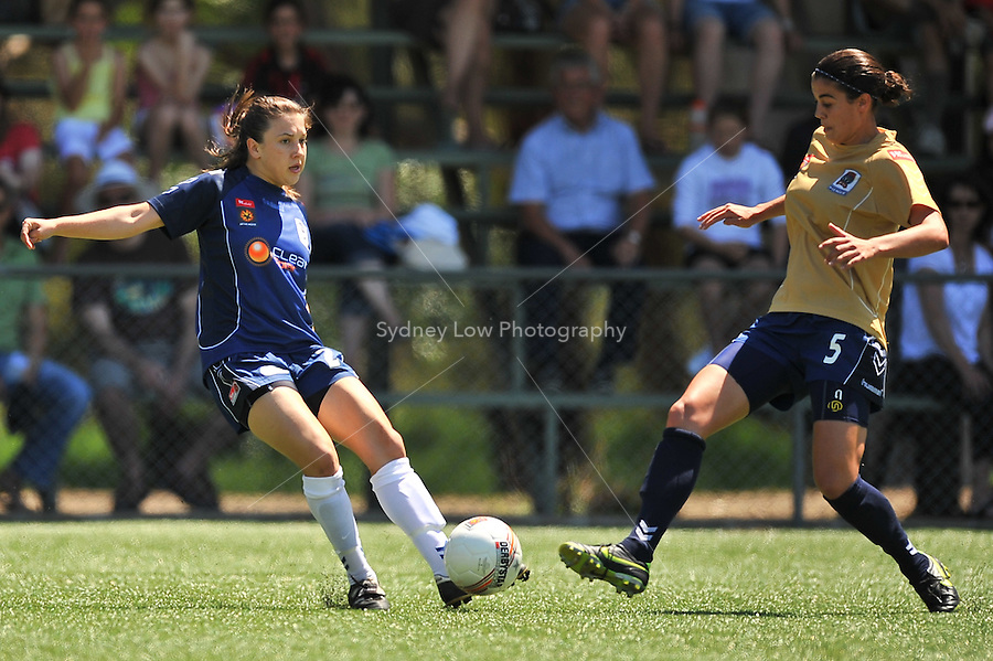 MELBOURNE, AUSTRALIA - OCTOBER 31: Vedrana POPOVIC from Melbourne Victory kicks the ball in round 5 of the Westfield W-league match between Melbourne Victory and Newcastle Jets at the Veneto Club on October 31, 2009 in Melbourne, Australia. Photo Sydney Low www.syd-low.com