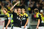 Solna 2015-08-10 Fotboll Allsvenskan AIK - Djurg&aring;rdens IF :  <br /> AIK:s Kenny Pavey jublar efter matchen mellan AIK och Djurg&aring;rdens IF <br /> (Foto: Kenta J&ouml;nsson) Nyckelord:  AIK Gnaget Friends Arena Allsvenskan Djurg&aring;rden DIF jubel gl&auml;dje lycka glad happy