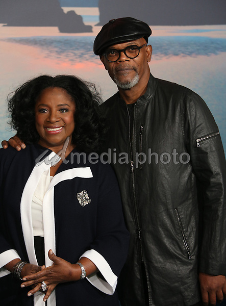 "08 March 2017 - Hollywood, California - Samuel L. Jackson, LaTanya Richardson. ""Kong: Skull Island"" Los Angeles Premiere held at Dolby Theatre. Photo Credit: AdMedia"