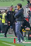 14.04.2019, Merkur Spielarena, Duesseldorf , GER, 1. FBL,  Fortuna Duesseldorf vs. FC Bayern Muenchen,<br />  <br /> DFL regulations prohibit any use of photographs as image sequences and/or quasi-video<br /> <br /> im Bild / picture shows: <br /> Friedhelm Funkel Trainer / Headcoach (Fortuna Duesseldorf), regt sich heftig auf, Gestik, Mimik,   <br /> <br /> Foto © nordphoto / Meuter