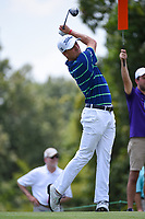 Justin Thomas (USA) watches his tee shot on 9 during round 3 of the WGC FedEx St. Jude Invitational, TPC Southwind, Memphis, Tennessee, USA. 7/27/2019.<br /> Picture Ken Murray / Golffile.ie<br /> <br /> All photo usage must carry mandatory copyright credit (© Golffile | Ken Murray)