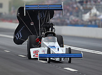 Apr 21, 2018; Baytown, TX, USA; NHRA top fuel driver Terry Brian during qualifying for the Springnationals at Royal Purple Raceway. Mandatory Credit: Mark J. Rebilas-USA TODAY Sports