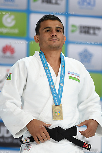 Rishod Sobirov (UZB), AUGUST 25, 2015 - Judo : World Judo Championships Astana 2015 Men's -66kg Medal Ceremony at Alau Ice Palace in Astana, Kazakhstan. (Photo by AFLO SPORT)