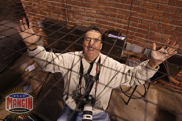 SAN FRANCISCO - JULY 9:  Associated Press staff photographer Eric Risberg poses for the camera after the game between the New York Mets and San Francisco Giants at AT&T Park on Sunday, July 9, 2011 in San Francisco, California. Photo by Brad Mangin