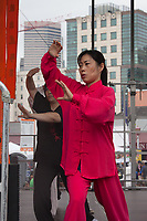 Chinese Martial Artist, Dragon Fest 2015, Chinatown, Seattle, Washington, USA